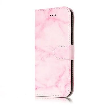 voordelige iPhone 5c hoesjes-hoesje Voor Apple iPhone X / iPhone 8 Plus / iPhone 8 Portemonnee / Kaarthouder / Flip Volledig hoesje Marmer Hard PU-nahka
