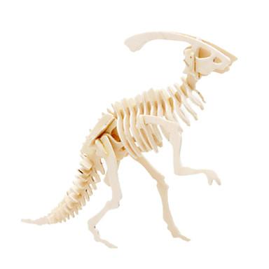 Muwanzi قطع تركيب3D تركيب النماذج الخشبية ديناصور طيارة بناء مشهور اصنع بنفسك خشبي كلاسيكي للجنسين ألعاب هدية