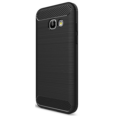 abordables Fundas / Carcasas para Galaxy Serie A-ASLING Funda Para Samsung Galaxy Congelada Funda Trasera Un Color Suave Fibra de carbon para A3 (2017)