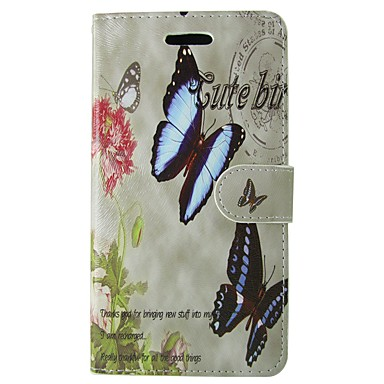 voordelige Galaxy S-serie hoesjes / covers-hoesje Voor Samsung Galaxy S8 / S7 / S6 edge Portemonnee / Kaarthouder / met standaard Volledig hoesje Vlinder / Bloem Hard PU-nahka