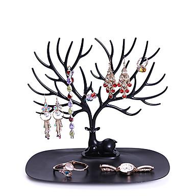 رخيصةأون خزانة المكياج و المجوهرات-قلادة حامل سوار حامل مجوهرات منظم مجوهرات شجرة ديكور الغزلان قرن الوعل شجرة تصميم