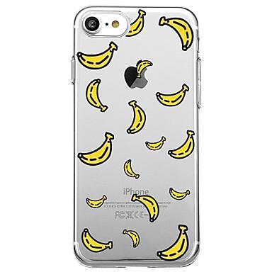 voordelige iPhone 7 hoesjes-hoesje Voor iPhone 7 / iPhone 7 Plus / iPhone 6s Plus iPhone SE / 5s Transparant / Patroon Achterkant Cartoon / Fruit Zacht TPU