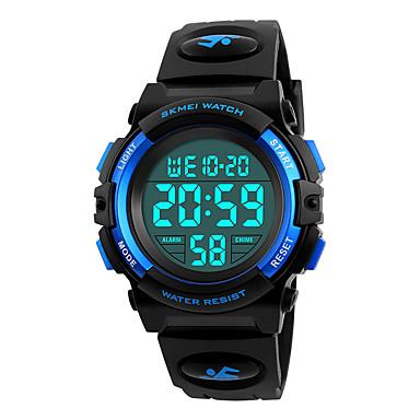 رخيصةأون ساعات الرجال-SKMEI رجالي ساعة رياضية ساعة المعصم ساعة رقمية ياباني رقمي جلد اصطناعي أسود 50 m مقاوم للماء المنبه رزنامه رقمي موضة - أسود أحمر أزرق / الكرونوغراف / ساعة التوقف / قضية