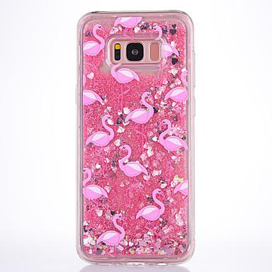 Недорогие Чехлы и кейсы для Galaxy S-Кейс для Назначение SSamsung Galaxy S8 Plus / S8 / S7 edge Движущаяся жидкость / Прозрачный / С узором Кейс на заднюю панель Фламинго Мягкий ТПУ