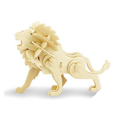 رخيصةأون 3D الألغاز-قطع تركيب3D تركيب النماذج الخشبية ديناصور طيارة أسد اصنع بنفسك خشبي كلاسيكي للأطفال للجنسين ألعاب هدية
