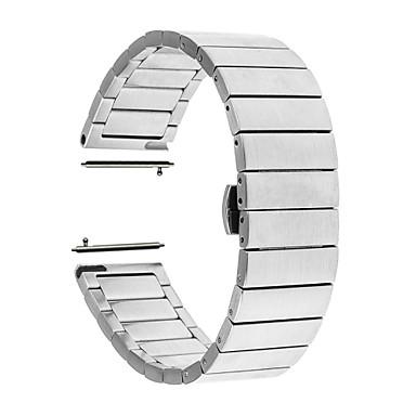 voordelige Smartwatch-accessoires-Horlogeband voor Huawei Watch 2 Huawei Butterfly Buckle Roestvrij staal Polsband