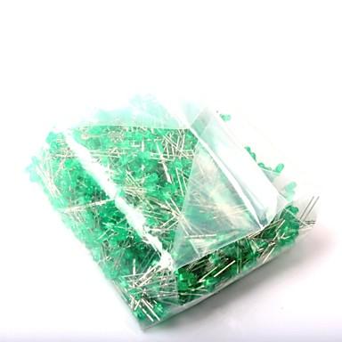 olcso Diódák-Led fénykibocsátó dióda 3mm zöld fény (1000db)