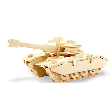 قطع تركيب3D تركيب النماذج الخشبية ديناصور دبابة طيارة اصنع بنفسك خشبي كلاسيكي للجنسين ألعاب هدية