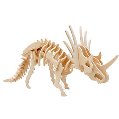 olcso 3D Puzzle-Muwanzi 3D építőjátékok Fejtörő Wood Model Dinoszaurus Repülőgép Népszerű épület DIY Fa Klasszikus Uniszex Játékok Ajándék