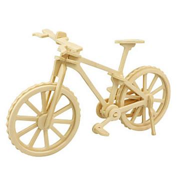 قطع تركيب3D تركيب النماذج الخشبية ديناصور طيارة الدراجة اصنع بنفسك خشبي كلاسيكي للجنسين ألعاب هدية