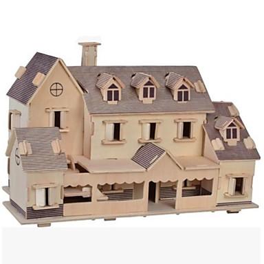 رخيصةأون 3D الألغاز-قطع تركيب3D تركيب تركيب خشبي النماذج الخشبية مجموعات البناء بناء مشهور بيت Other اصنع بنفسك خشب الخشب الطبيعي كلاسيكي للأطفال للبالغين