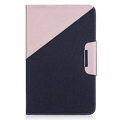 رخيصةأون حالة سامسونج اللوحي-غطاء من أجل Samsung Galaxy / علامة التبويب A 9.7 Tab E 9.6 / Tab A 10.1 (2016) محفظة / حامل البطاقات / مع حامل غطاء كامل للجسم لون سادة قاسي جلد PU