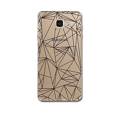 voordelige Galaxy A-serie hoesjes / covers-hoesje Voor Samsung Galaxy A3 (2017) / A5 (2017) / A7 (2017) Transparant / Patroon Achterkant Lijnen / golven / Geometrisch patroon Zacht TPU