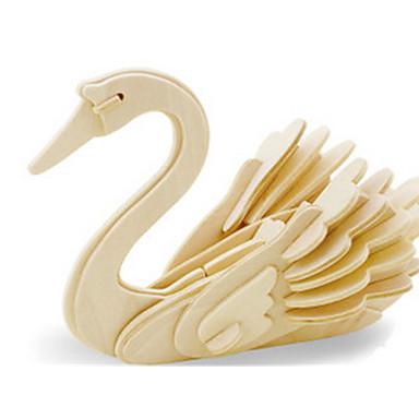 قطع تركيب3D تركيب النماذج الخشبية ديناصور طيارة بجعة اصنع بنفسك خشبي كلاسيكي للأطفال للبالغين للجنسين للصبيان للفتيات ألعاب هدية