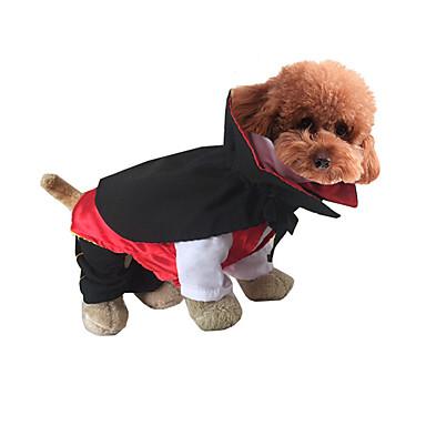 Gatto cane costumi abbigliamento per cani cartoni animati rosso