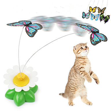 رخيصةأون لعب-ألعاب تسلية القطط قط قطة صغيرة حيوانات أليفة ألعاب فراشة بلاستيك هدية