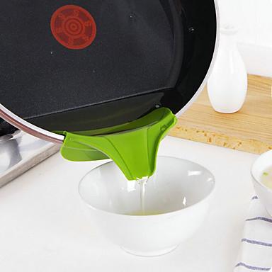 قمع سيليكون صب صنبور الانزلاق على فوضى تسرب أدوات المطبخ وعاء جولة عاكس حافة المطبخ