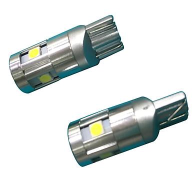 [$2 99] Full Aluminium Material 3W Lens Design T10 Can-bus LED Bulb White  Color(2PCS)