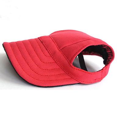 povoljno Odjeća za psa i dodaci-Mačka Pas Hoodies Marame i kape Sport Hat Odjeća za psa Crn Crvena Plava Kostim Najlon Jednobojni Vjenčanje S M