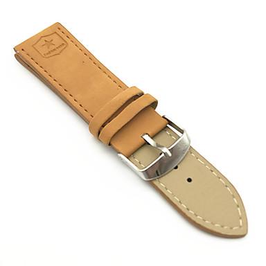 お買い得  腕時計ベルト-PUレザー / 合金 時計バンド ストラップ のために ブラウン 24センチメートル / 9インチ 2cm / 0.8 Inch