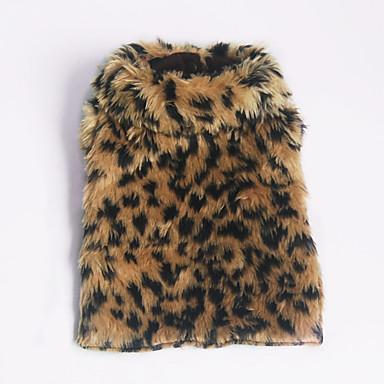 povoljno Odjeća za psa i dodaci-Pas Puloveri Odjeća za psa Leopard Leopard Terilen Kostim Za Proljeće & Jesen Zima Ležerno / za svaki dan