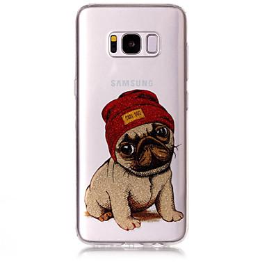 Недорогие Чехлы и кейсы для Galaxy S6 Edge-Кейс для Назначение SSamsung Galaxy S8 Plus / S8 / S7 edge IMD / С узором Кейс на заднюю панель С собакой / Сияние и блеск Мягкий ТПУ