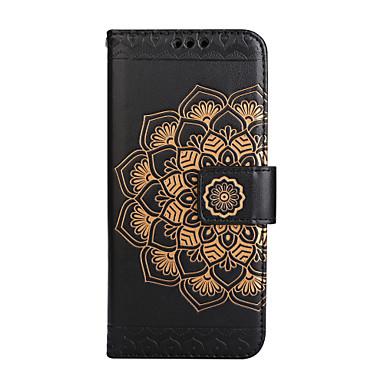 Недорогие Чехлы и кейсы для Galaxy S3-Кейс для Назначение SSamsung Galaxy S8 Plus / S8 / S7 edge Кошелек / Бумажник для карт / Флип Чехол Мандала / Цветы Твердый Кожа PU