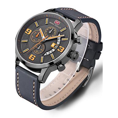Недорогие Часы на кожаном ремешке-Муж. Повседневные часы Спортивные часы Модные часы Кварцевый Роскошь Защита от влаги Аналоговый Белый Желтый Красный / Нержавеющая сталь / Натуральная кожа / # / # / Два года