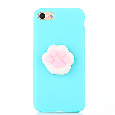 voordelige iPhone-hoesjes-hoesje Voor Apple iPhone 7 Plus / iPhone 7 / iPhone 6s Plus DHZ / squishy Achterkant Effen Zacht Siliconen