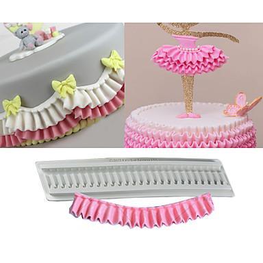 رخيصةأون أدوات الفرن-1PC السليكون المطاط السيليكون غير لاصقة أداة الخبز عيد ميلاد كعكة قوالب الكيك أدوات خبز
