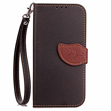 olcso Galaxy Note Edge tokok-Case Kompatibilitás Samsung Galaxy Note 5 / Note 4 / Note 3 Pénztárca / Kártyatartó / Állvánnyal Héjtok Egyszínű Kemény PU bőr