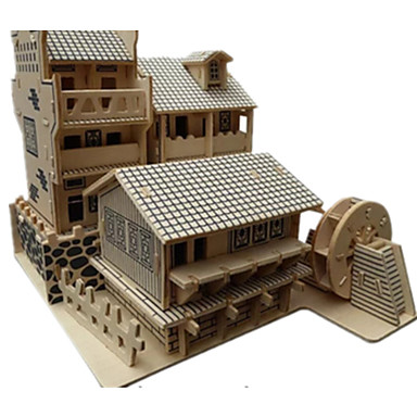 رخيصةأون 3D الألغاز-قطع تركيب3D تركيب مجموعات البناء بناء مشهور الزراعة الصينية اصنع بنفسك محاكاة خشبي كلاسيكي استايل صيني للجنسين ألعاب هدية