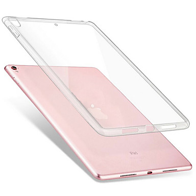 olcso iPad tokok-Case Kompatibilitás Apple iPad Air / iPad 4/3/2 / iPad Mini 3/2/1 Ütésálló / Átlátszó Héjtok Egyszínű Puha TPU / iPad Pro 10.5 / iPad (2017)