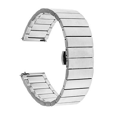 voordelige Horlogebandjes voor Samsung-Horlogeband voor Gear S3 Frontier / Gear S3 Classic / Gear S3 Classic LTE Samsung Galaxy Butterfly Buckle Roestvrij staal Polsband