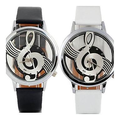 نسائي سيدات ساعة المعصم كوارتز جلد أسود / الأبيض ساعة كاجوال مماثل كاجوال موضة - أبيض أسود سنة واحدة عمر البطارية / Tianqiu 377