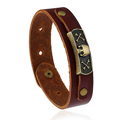 3cc2d8d1136 Heren / Dames Lederen armbanden - Leder Modieus Armbanden Bruin Voor  Bruiloft / Feest / Sport 6005001 2019 – €4.99