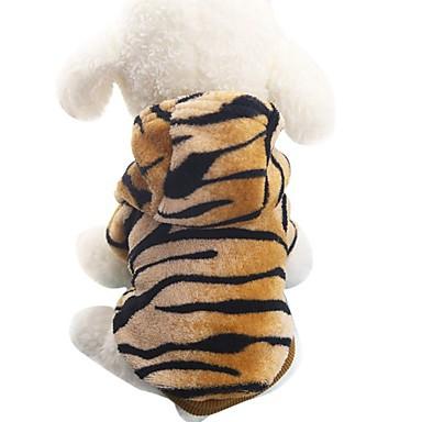 povoljno Odjeća za psa i dodaci-Pas Kostimi Kaputi Hoodies Zima Odjeća za psa Braon Kostim Fabrik Flannel Životinja Zabava Cosplay Moda XS S M L XL XXL