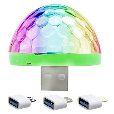 olcso USB Lights-ywxlight® rgb vezetett zenei színpadi fény show club disco dj fény lézer projektor hangvezérlés kristály mágikus labda effekt fények