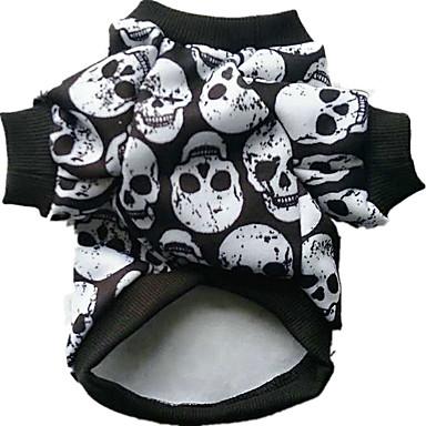 رخيصةأون ملابس وإكسسوارات الكلاب-كلب ازياء تنكرية الشتاء ملابس الكلاب أسود قوس قزح أبيض الهالووين كوستيوم قطن جماجم الكوسبلاي XXS XS S M L XL