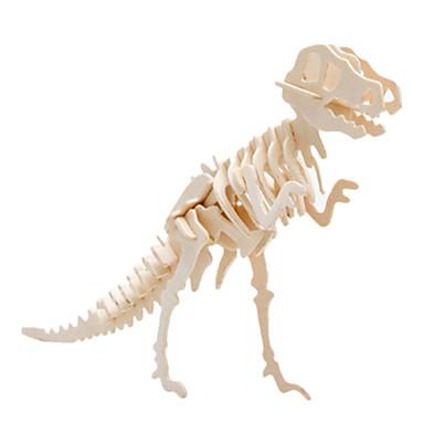 رخيصةأون 3D الألغاز-قطع تركيب3D تركيب النماذج الخشبية الديناصور ديناصور طيارة اصنع بنفسك خشبي كلاسيكي للجنسين ألعاب هدية