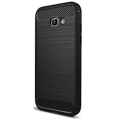 abordables Fundas / Carcasas para Galaxy Serie A-ASLING Funda Para Samsung Galaxy Congelada Funda Trasera Un Color Suave Fibra de carbon para A5 (2017)