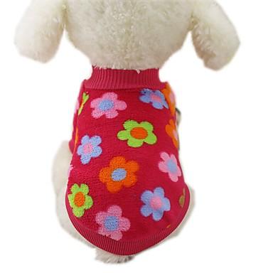 رخيصةأون ملابس وإكسسوارات الكلاب-كلب المعاطف T-skjorte كنزة الشتاء ملابس الكلاب بني شريط أصفر كوستيوم قماش الفانيلا مخطط كاجوال / يومي موضة XS S M L XL XXL