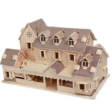 رخيصةأون 3D الألغاز-قطع تركيب3D تركيب مجموعات البناء بناء مشهور بيت اصنع بنفسك خشبي كلاسيكي للأطفال للبالغين للجنسين للصبيان للفتيات ألعاب هدية / النماذج الخشبية