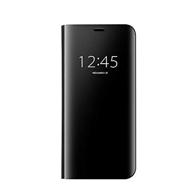Недорогие Чехлы и кейсы для Galaxy S-Кейс для Назначение SSamsung Galaxy S8 Plus / S8 / S7 edge Зеркальная поверхность / Авто Режим сна / Пробуждение Чехол Однотонный Твердый пластик