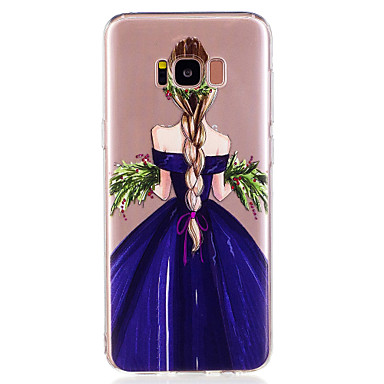 voordelige Galaxy S-serie hoesjes / covers-hoesje Voor Samsung Galaxy S8 Plus / S8 / S7 edge Patroon Achterkant Sexy dame Zacht TPU