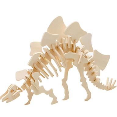 قطع تركيب3D تركيب النماذج الخشبية ديناصور طيارة بناء مشهور اصنع بنفسك خشبي كلاسيكي للجنسين ألعاب هدية