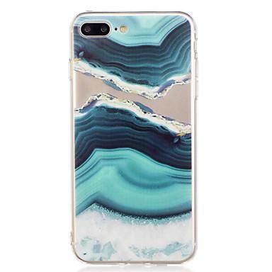 preiswerte iPhone Hüllen-Hülle Für Apple iPhone 7 Plus / iPhone 7 / iPhone 6s Plus Muster Rückseite Marmor Weich TPU