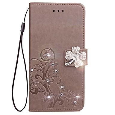 Недорогие Кейсы для Huawei других серий-Кейс для Назначение Huawei Honor 7 / Huawei P9 / Huawei P9 Lite P10 Plus / P10 Lite / P10 Кошелек / Бумажник для карт / Стразы Чехол Однотонный Твердый Кожа PU / Huawei P9 Plus / Mate 9 Pro
