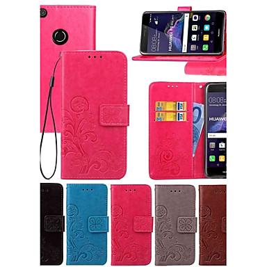 olcso Egyéb sorozatú tokok Huawei készülékhez-Case Kompatibilitás Huawei Honor 7 / Huawei P9 / Huawei P9 Lite P10 Plus / P10 Lite / P10 Pénztárca / Kártyatartó / Állvánnyal Héjtok Egyszínű Kemény PU bőr / Huawei P9 Plus / Mate 9 Pro