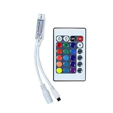 cheap LED Accessories-HKV® Mini 24 keys RGB IR Remote Controller RGB LED Strip Controller Small RGB Controller